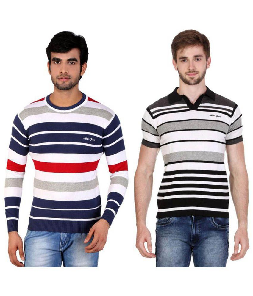 Alois Multi Round T-Shirt Pack of 2