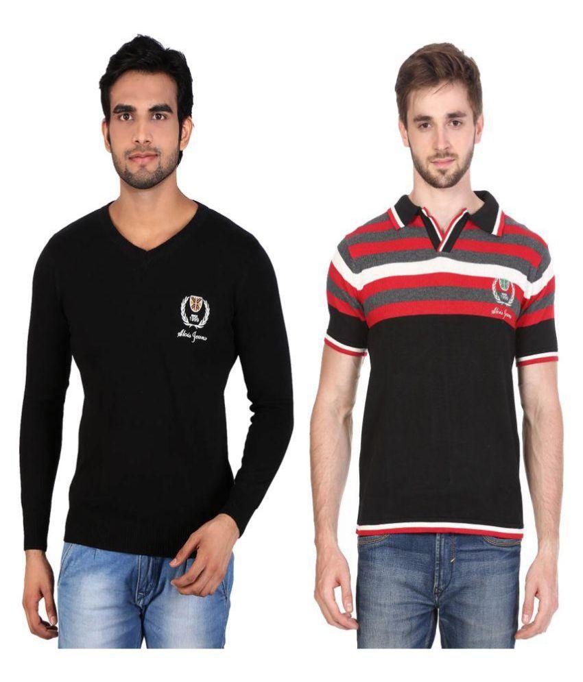 Alois Multi V-Neck T-Shirt Pack of 2
