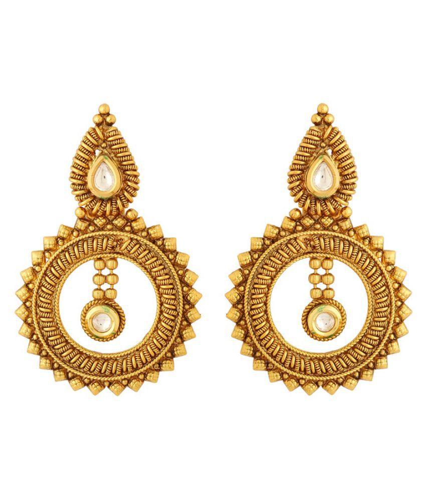 Voylla Golden Earring