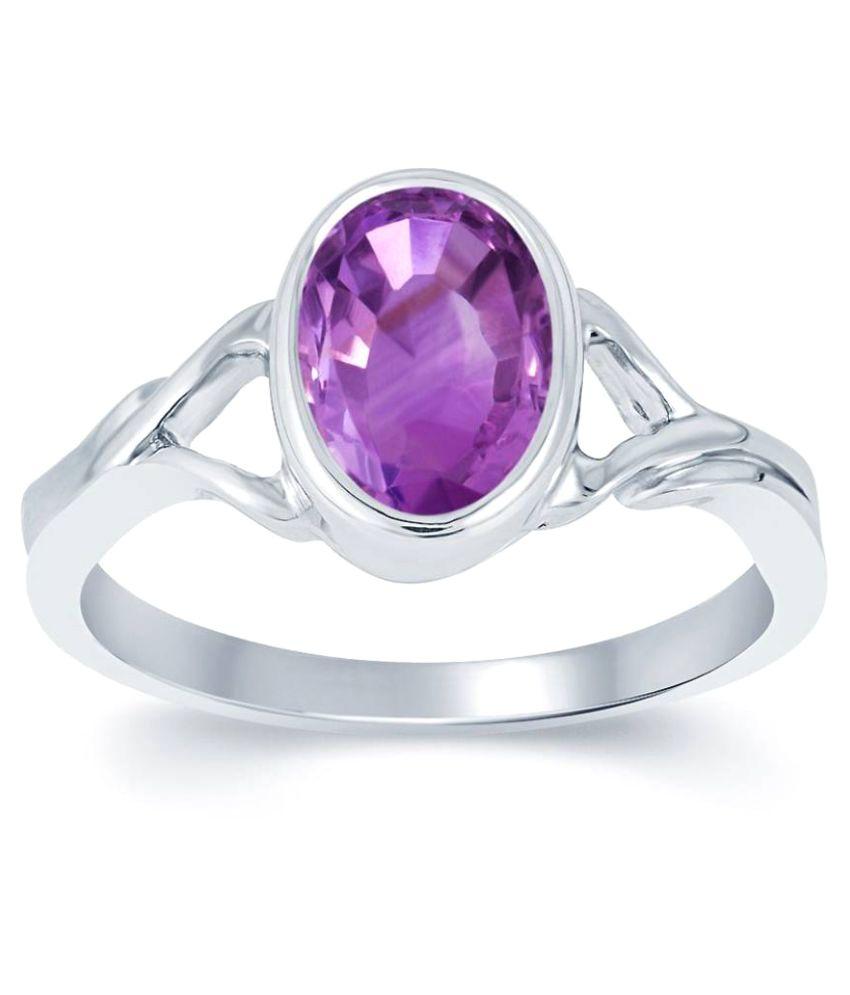 Jewelzon 92.5 Silver Amethyst Ring