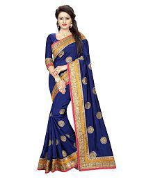 Online Bazaar Navy Silk Saree