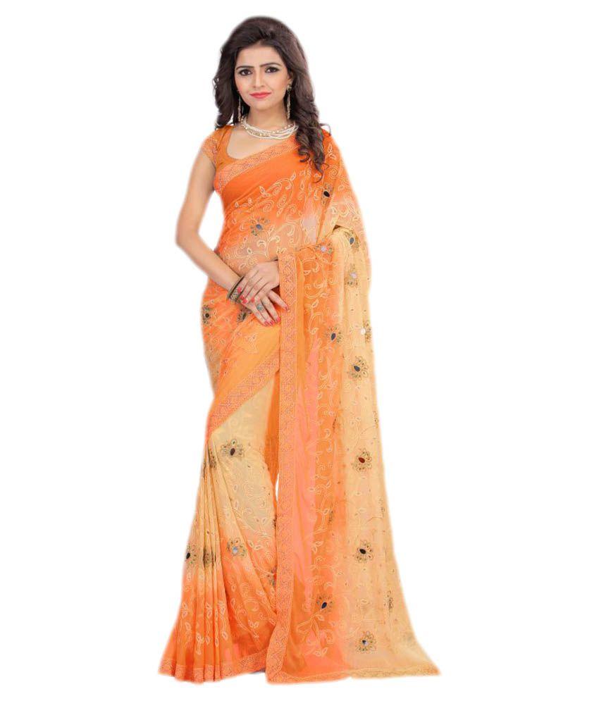 Mada Multicoloured Chiffon Saree