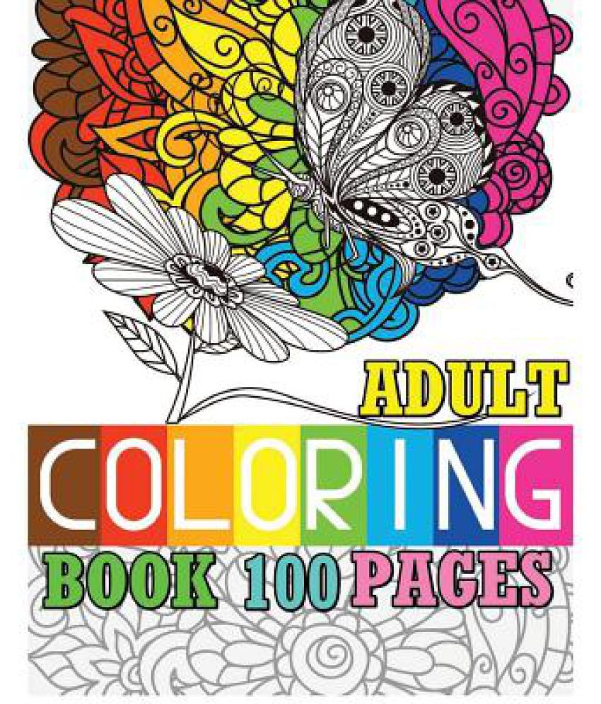 Adult Coloring Book 100 Pages