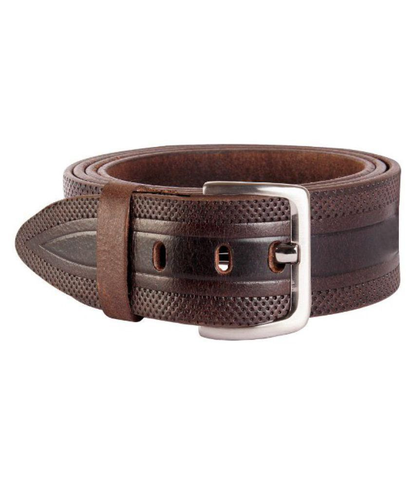 Xccess Brown Leather Formal Belts