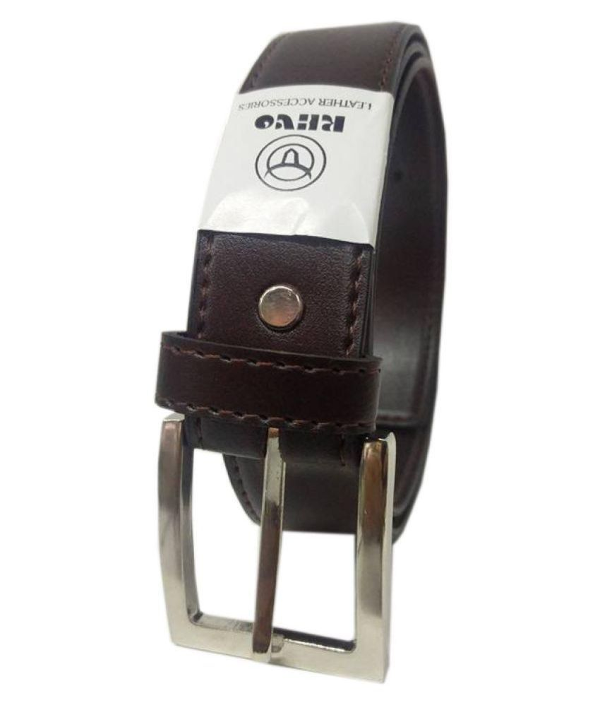 Revo Brown Faux Leather Formal Belts