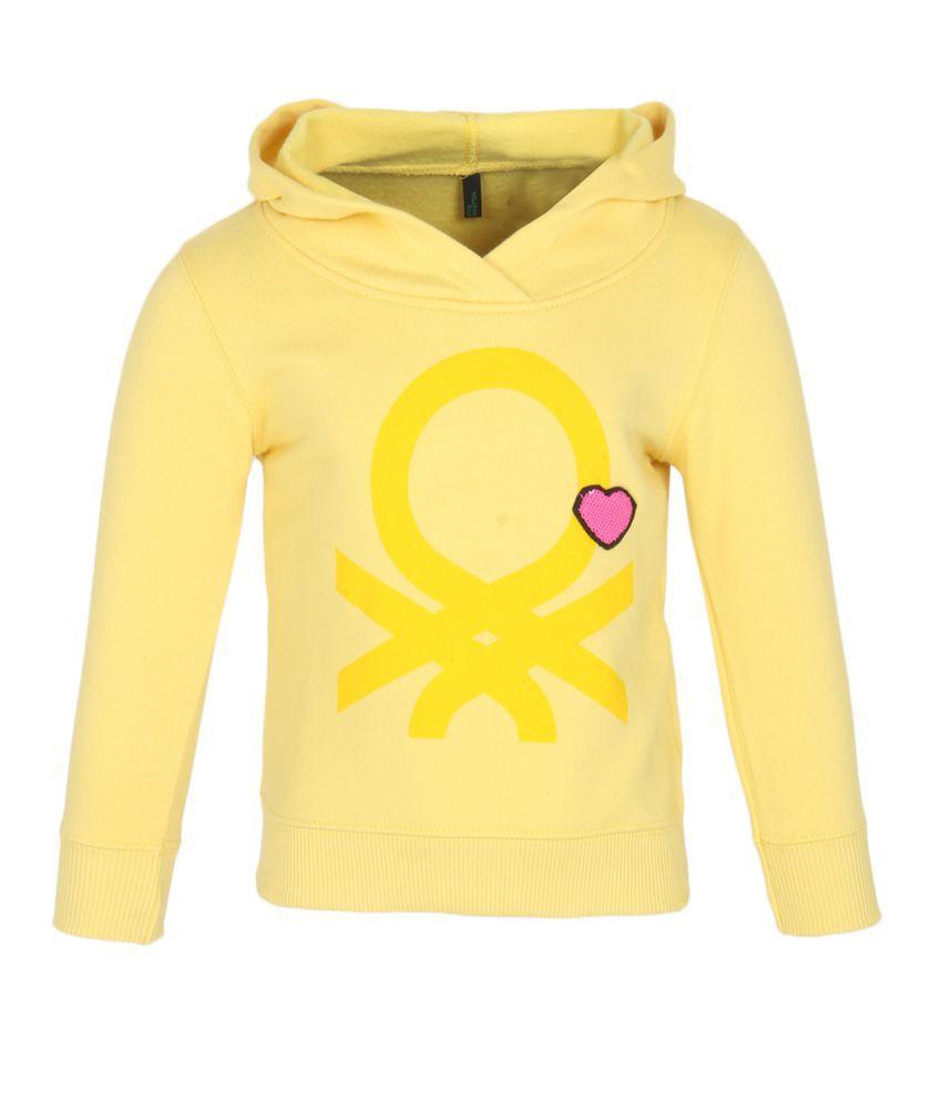 United Colors Of Benetton Yellow Girls Sweatshirts