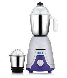 Boss Flora 550-Watt Mixer Grinder, 2 Jars, White-Purple