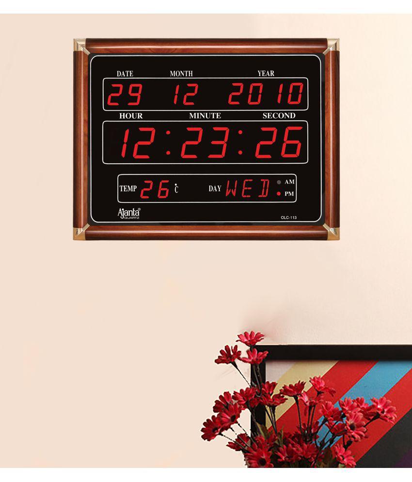 ajanta rectangular digital wall clock sach retails 24 0 buy ajanta rectangular digital wall clock sach retails 24 0