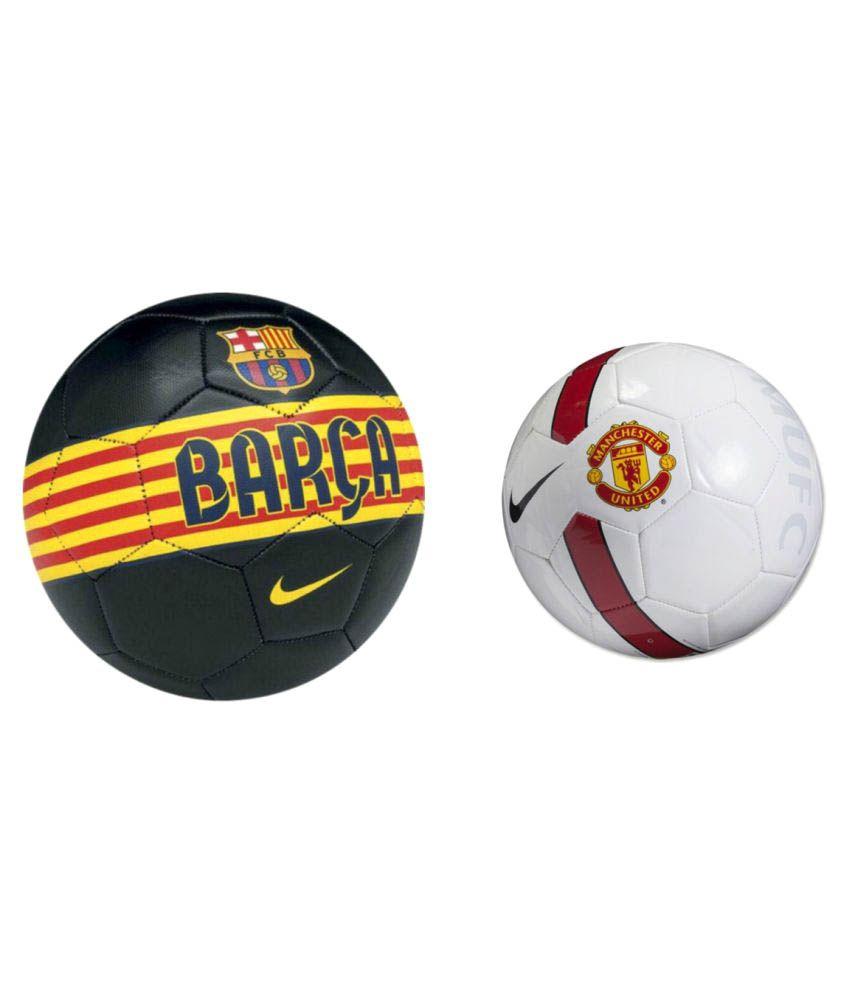 best loved 90217 d00dc Nike Man Utd Soccer & Barca (Replica) Multi-Color Football / Ball Size- 5