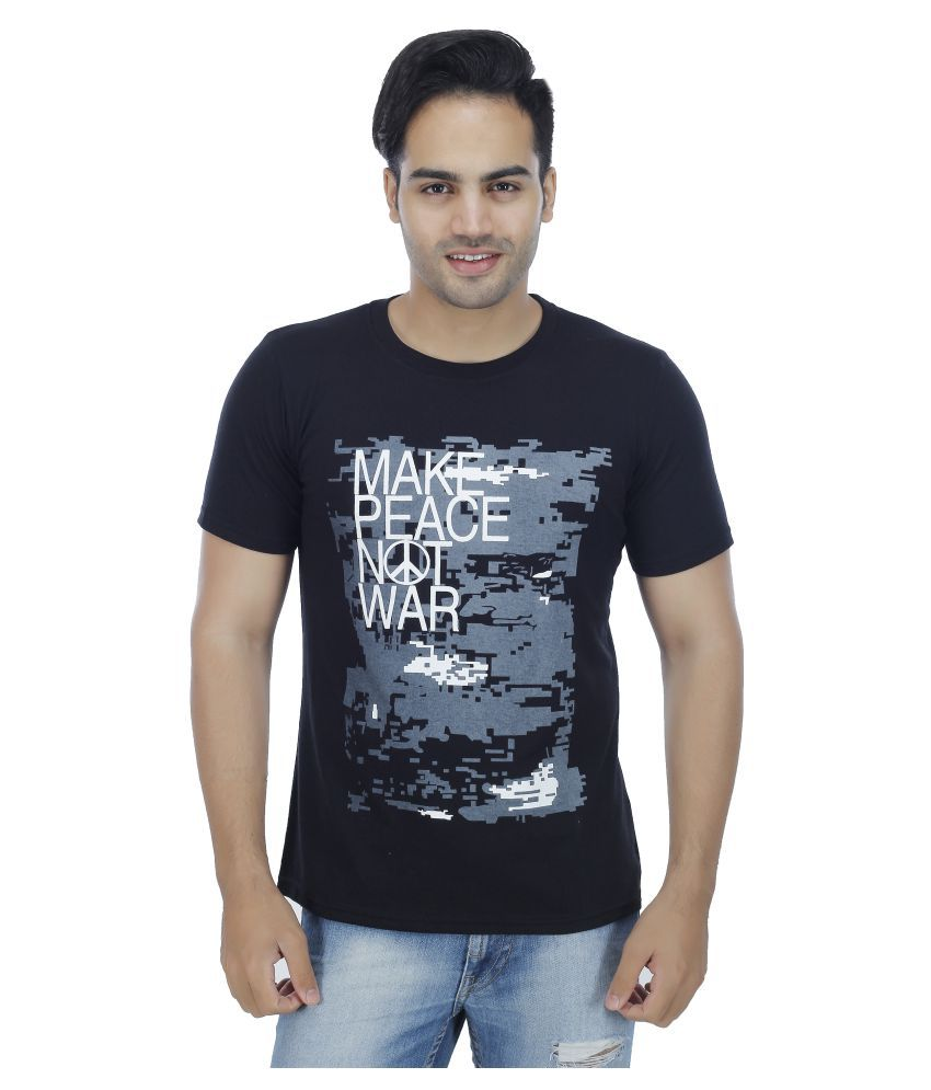 Rakshita's Collection Black Round T-Shirt
