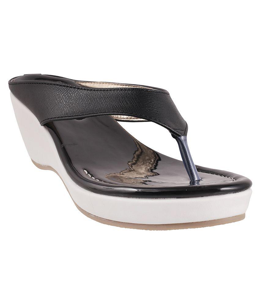 MSL BLACK Wedges Heels