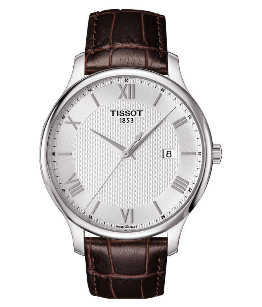 ca3b49e39cc Tissot Men s T0636101603800 Tradition Analog Display Swiss Quartz Brown  Watch - Buy Tissot Men s T0636101603800 Tradition Analog Display Swiss  Quartz Brown ...