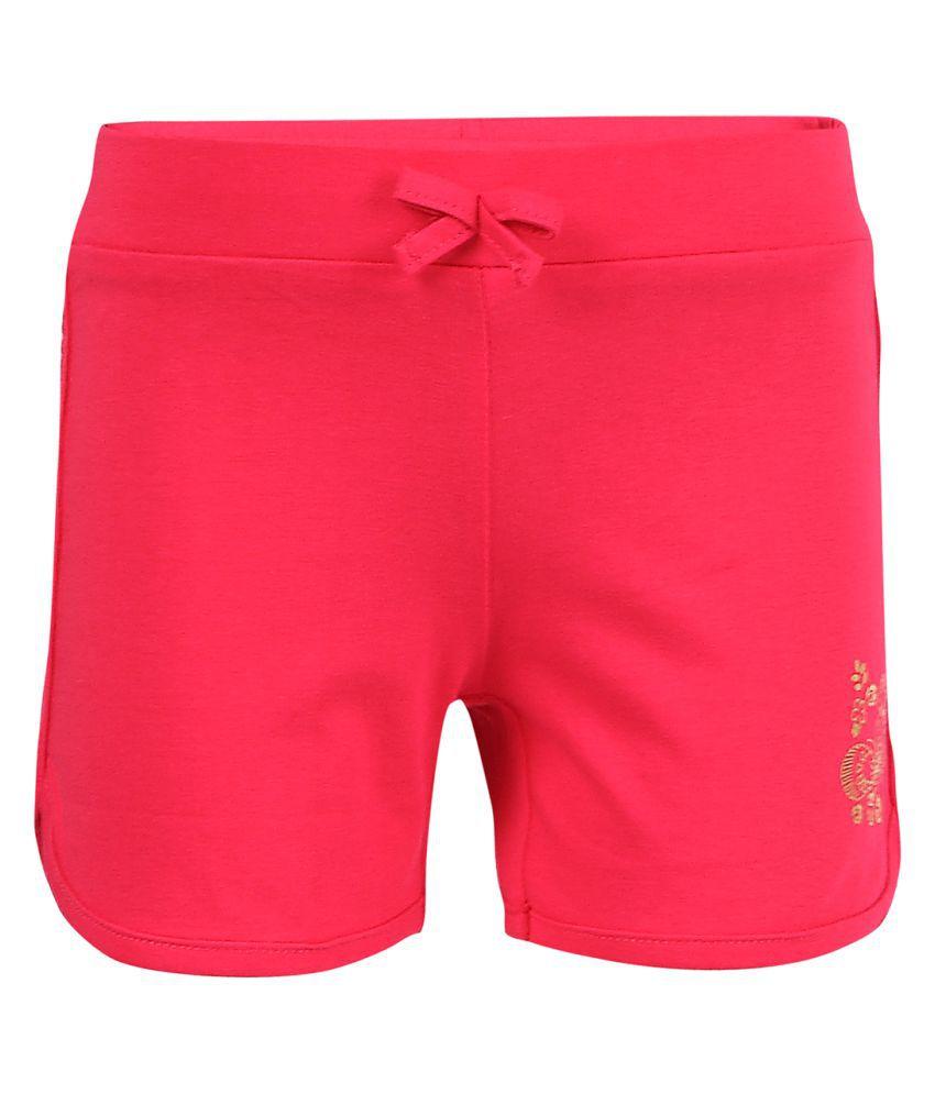 Ctee Pink Cotton Hot Pant