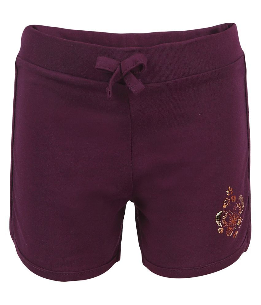 Ctee Purple Cotton Hot Pant