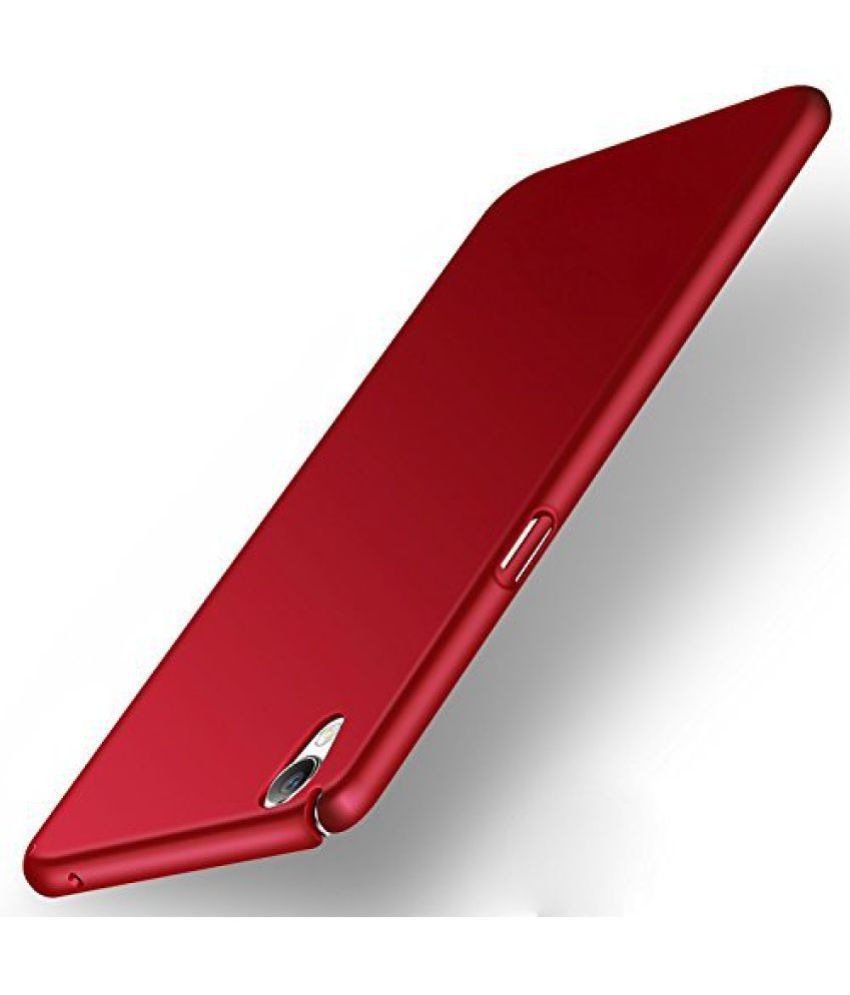 super cute 80248 4a59f Micromax Vdeo 1 Q4001 Plain Cases Kosher Traders - Red - Plain Back ...