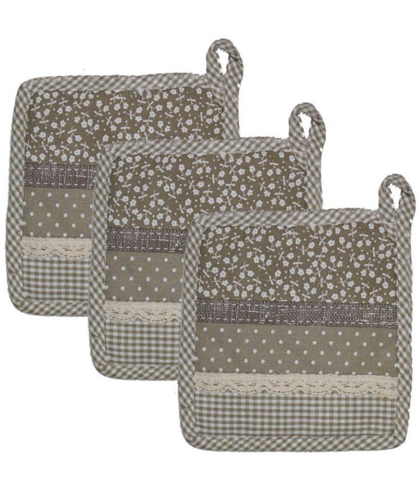 Airwill, Cotton Designer Pot Holders Pack Of 3