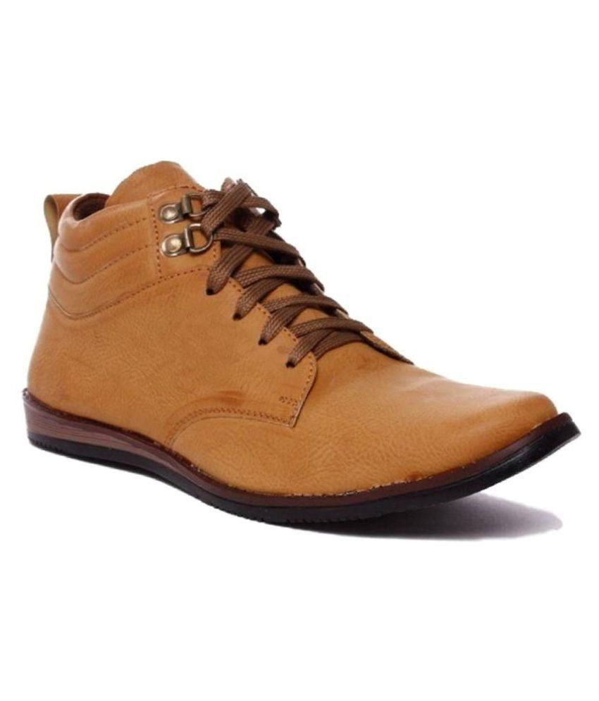 TheWhoop Tan Casual Boot