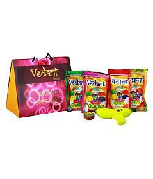 Vedant Holi Colours Herbal Gulal Holi Gift Pack With Water Gun