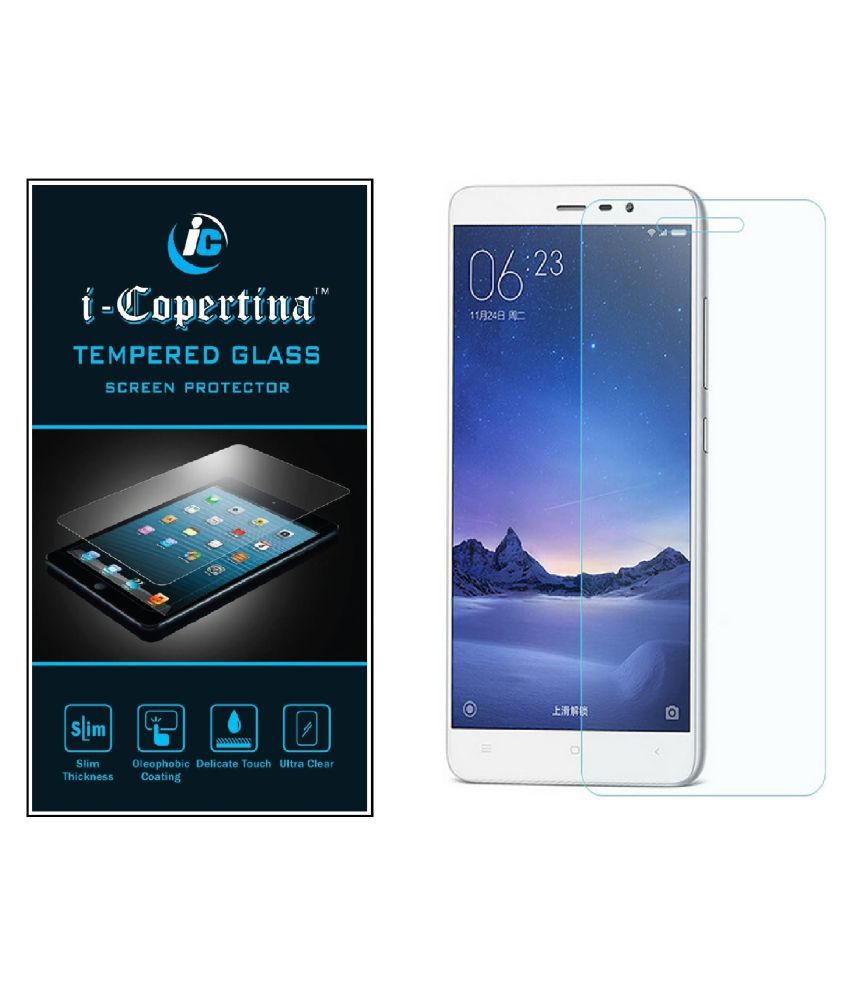 Xiaomi Redmi 3S Tempered Glass Screen Guard By iCopertina