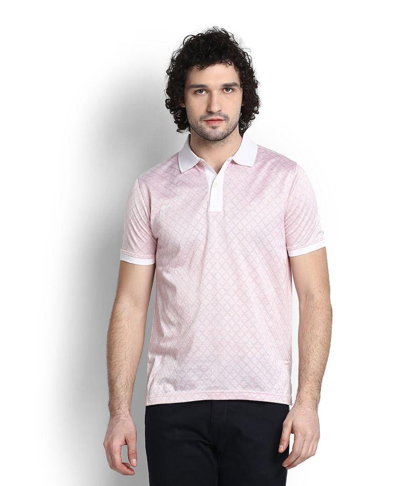 Van Heusen Pink Polo T-Shirt