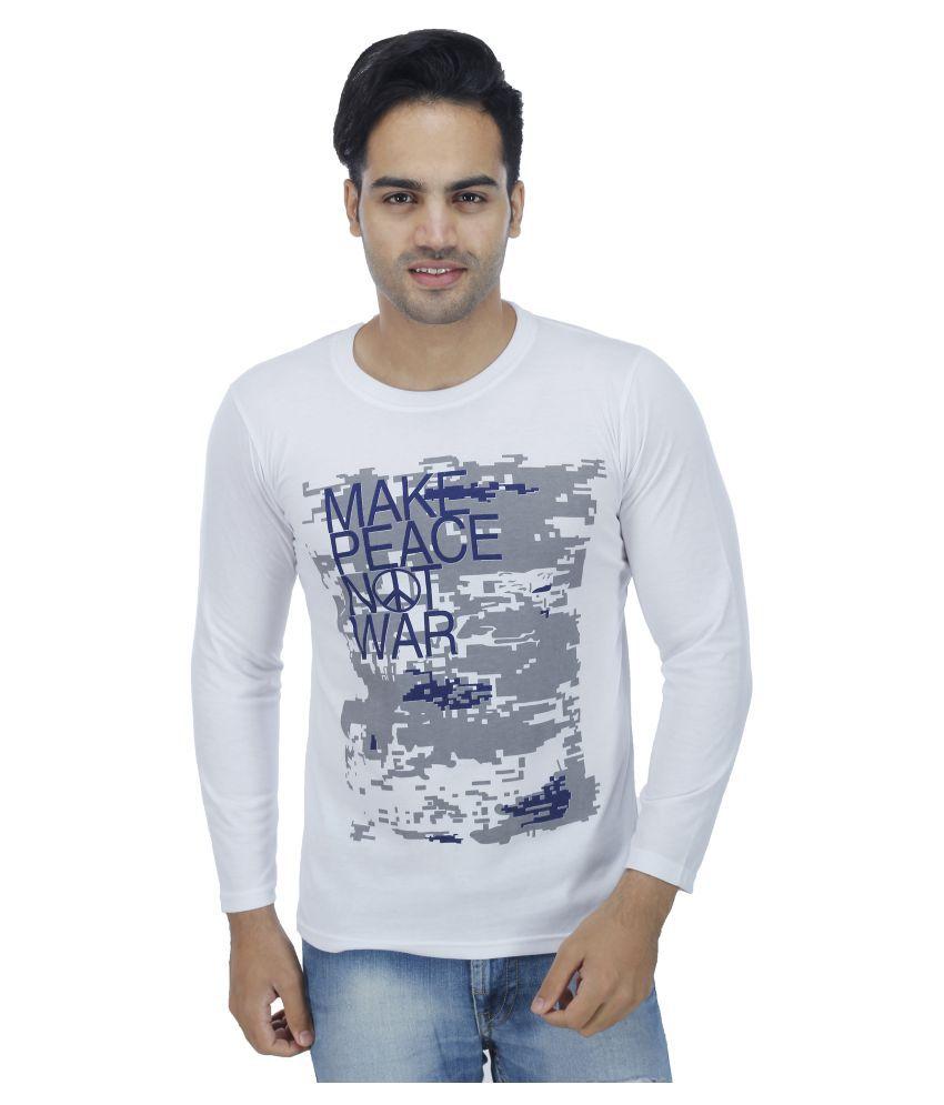 Rakshita's Collection White Round T-Shirt