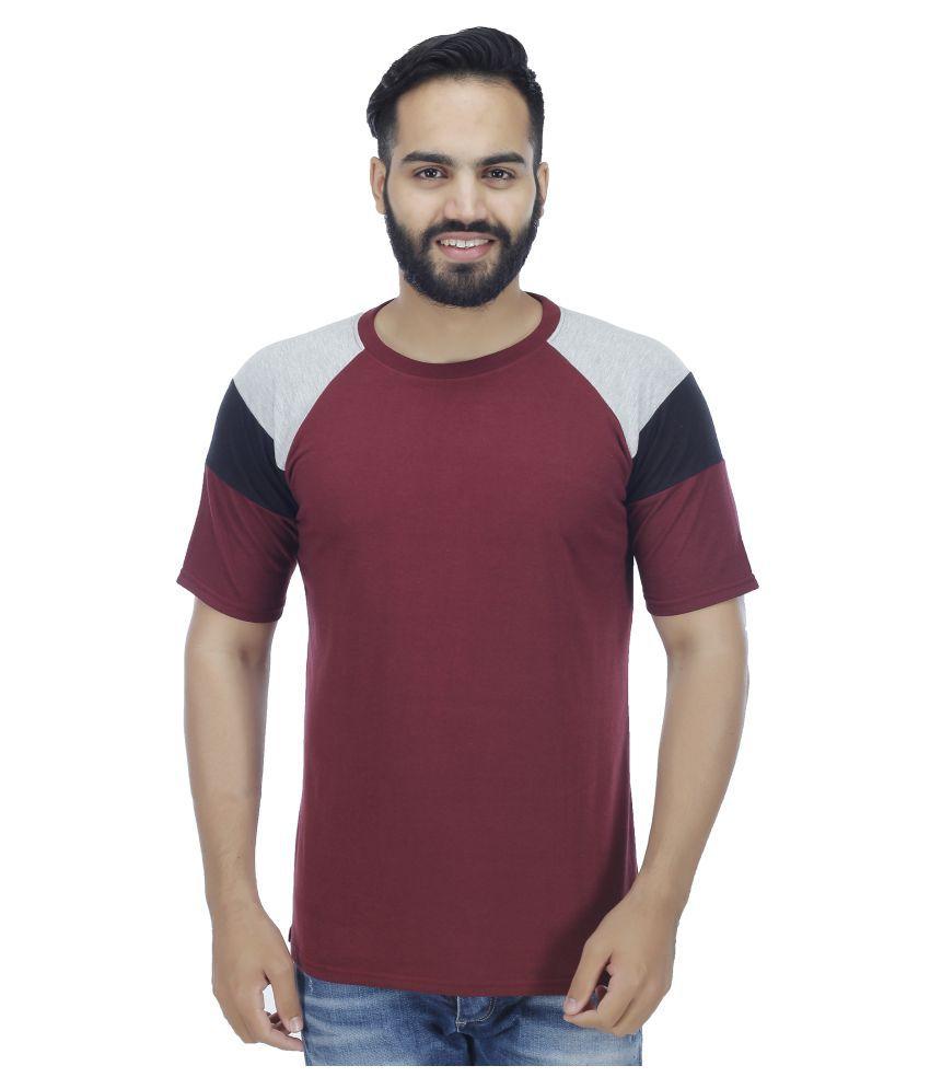 Rakshita's Collection Maroon Round T-Shirt