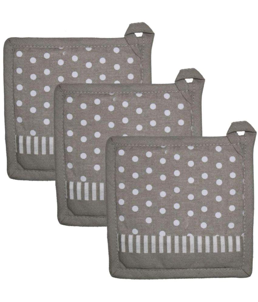 Airwill Cotton Designer Pot Holders (Pack of 3 pcs).