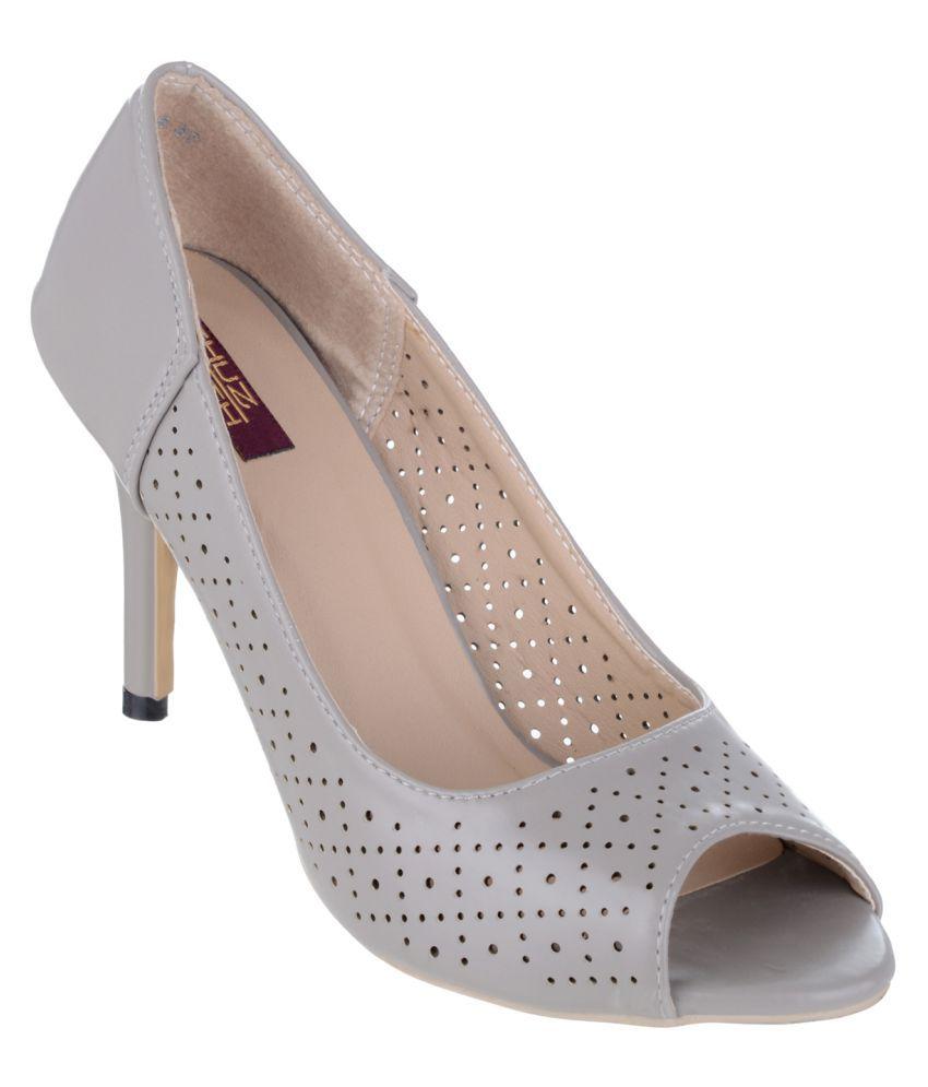 Shuz Touch Gray Stiletto Heels