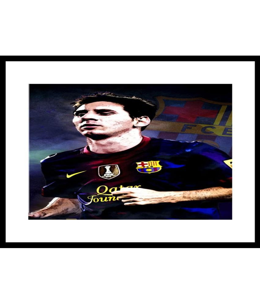 f9e5d92075e Myimage Lionel Messi Barcelona Paper Photo Wall Poster With Frame Single  Piece: Buy Myimage Lionel Messi Barcelona Paper Photo Wall Poster With  Frame Single ...