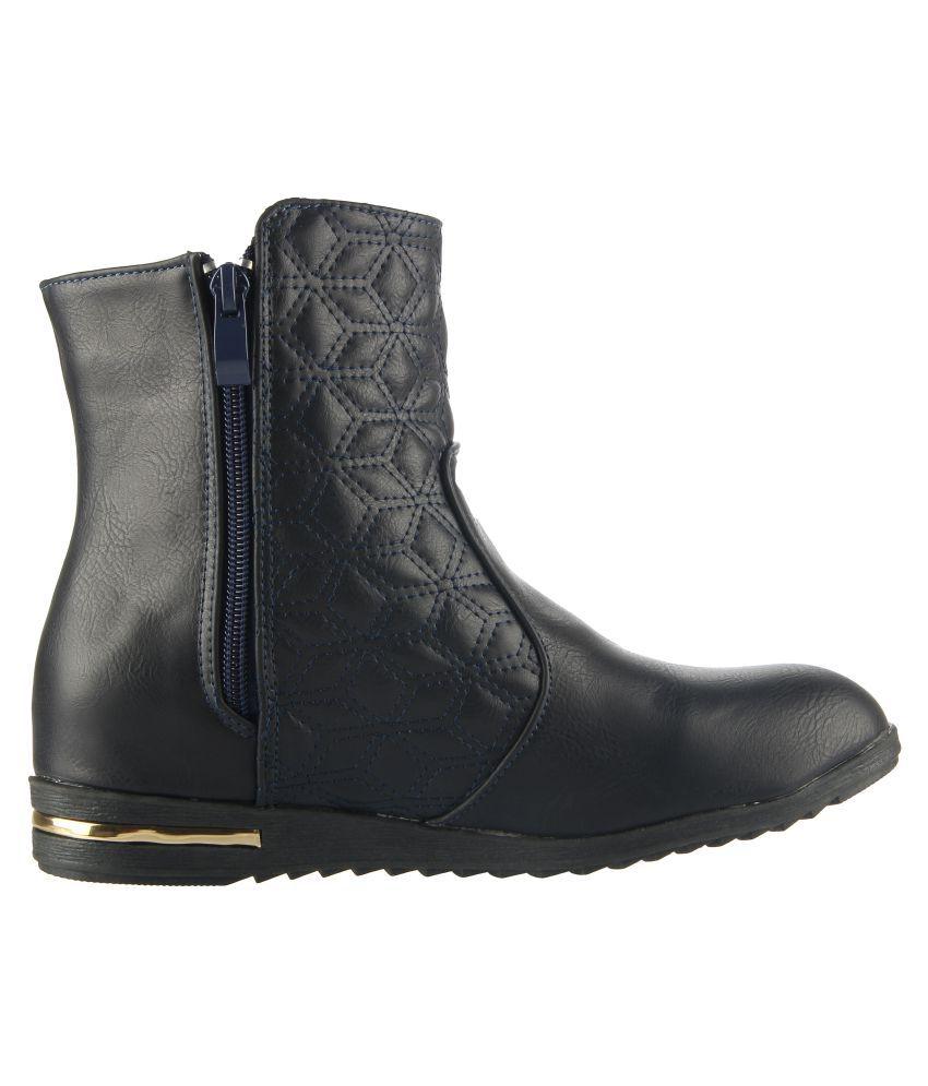 cheap sale fake Pranisha Footwear Black Mid Calf Bootie Boots latest cheap sale for sale sale ebay H3Dtu