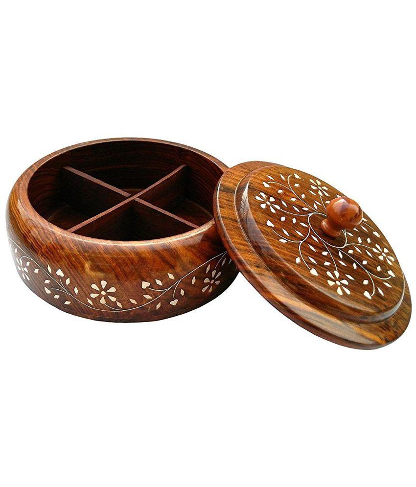 CRUZ INTERNATIONAL SGMM0420 Wooden Spice Container Set of 1