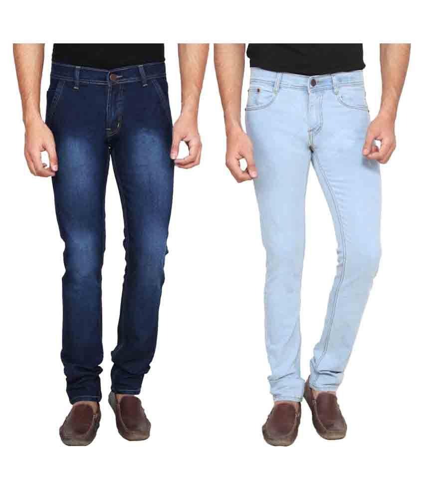 Ansh Fashion Wear Blue Slim Jeans