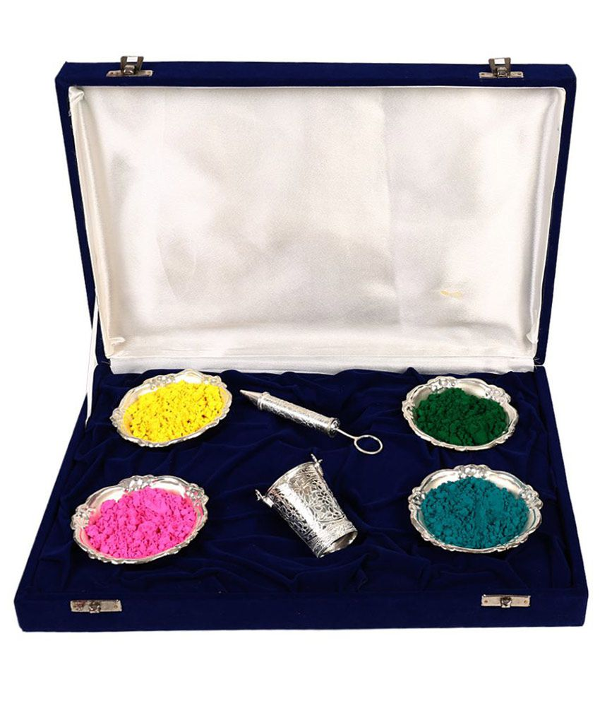 Jewel Fuel Silverplated Holi Colours Silver