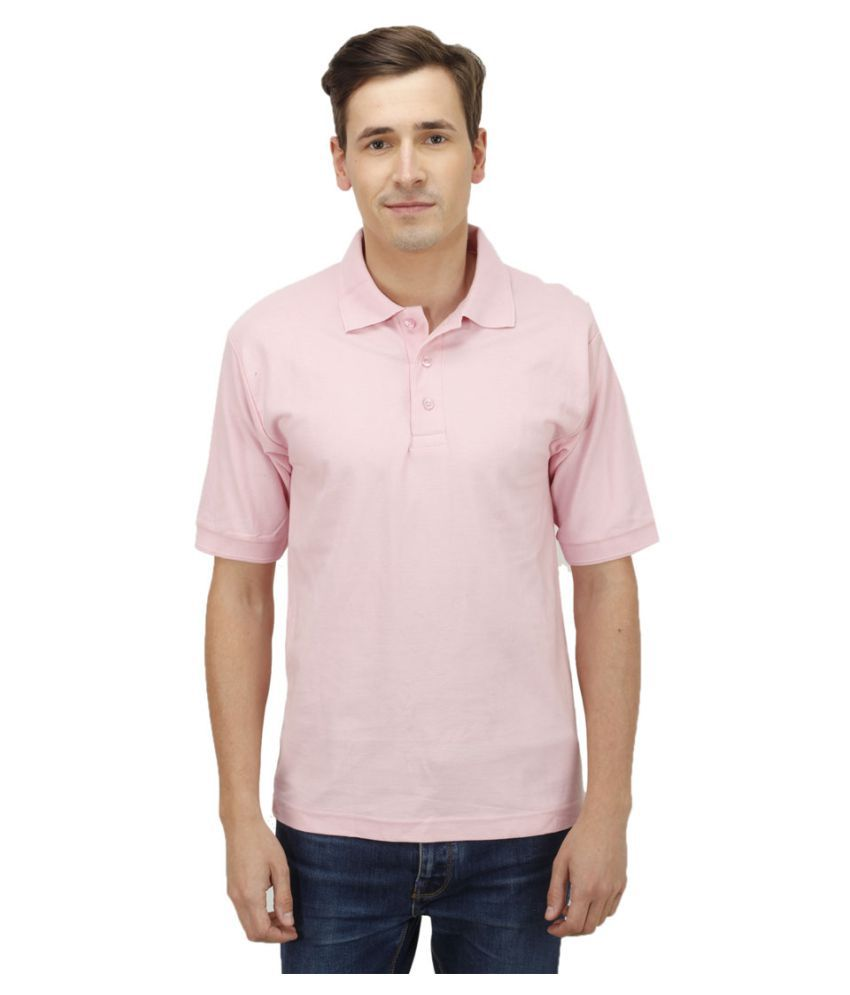 Haltung Pink Cotton Polo T-shirt