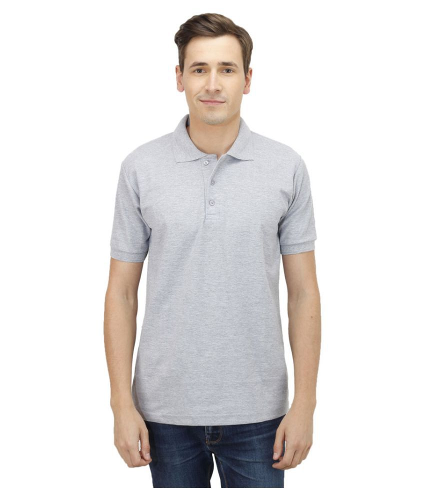 Haltung Grey Cotton Polo T-shirt