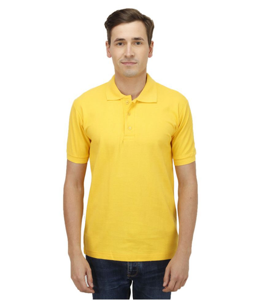 Haltung Yellow Cotton Polo T-shirt