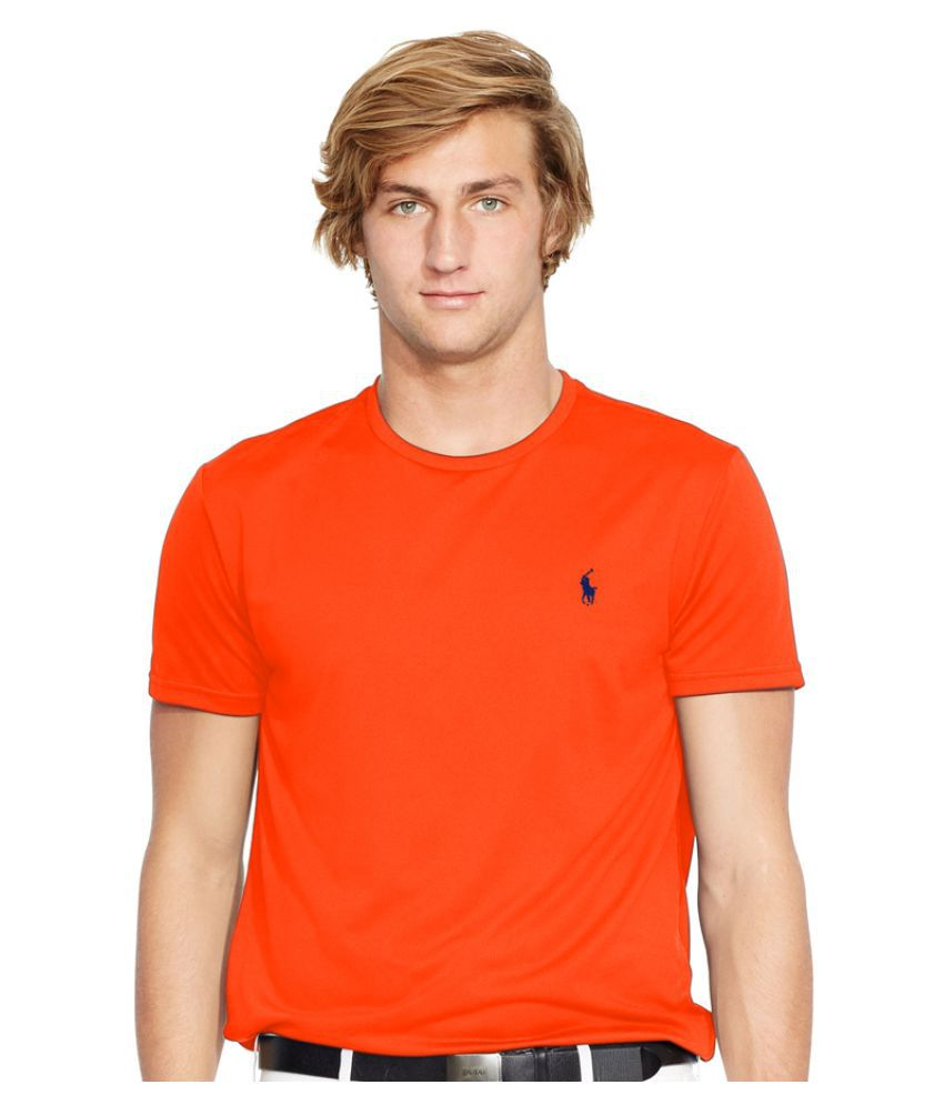 Ralph Lauren Polo Orange Polyester T Shirt