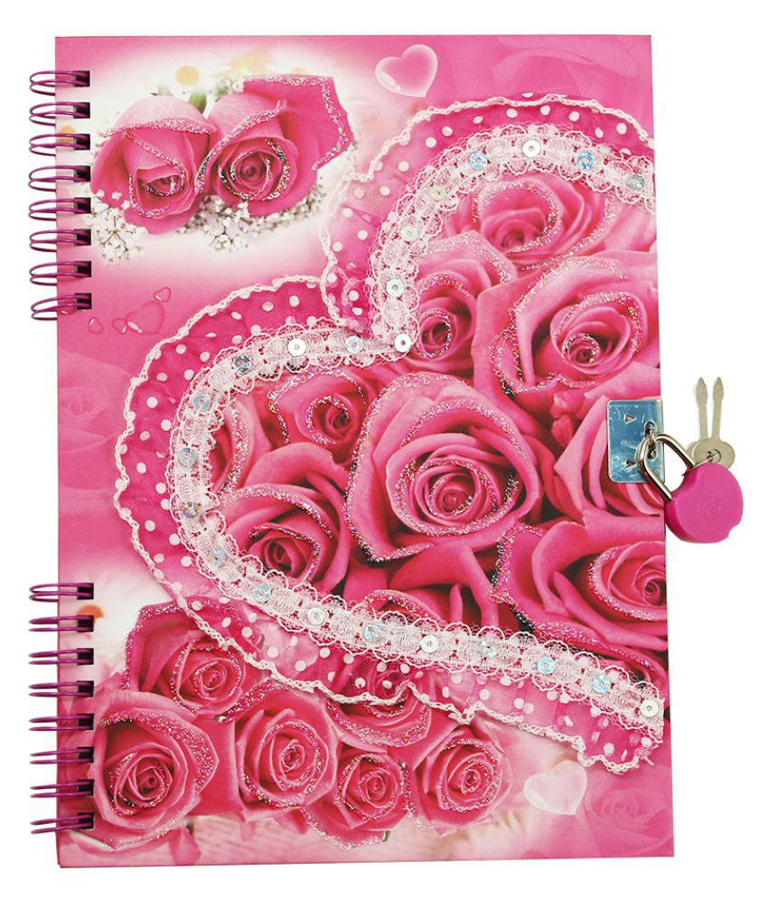 dreambag heart design personal diary with lock buy online at best