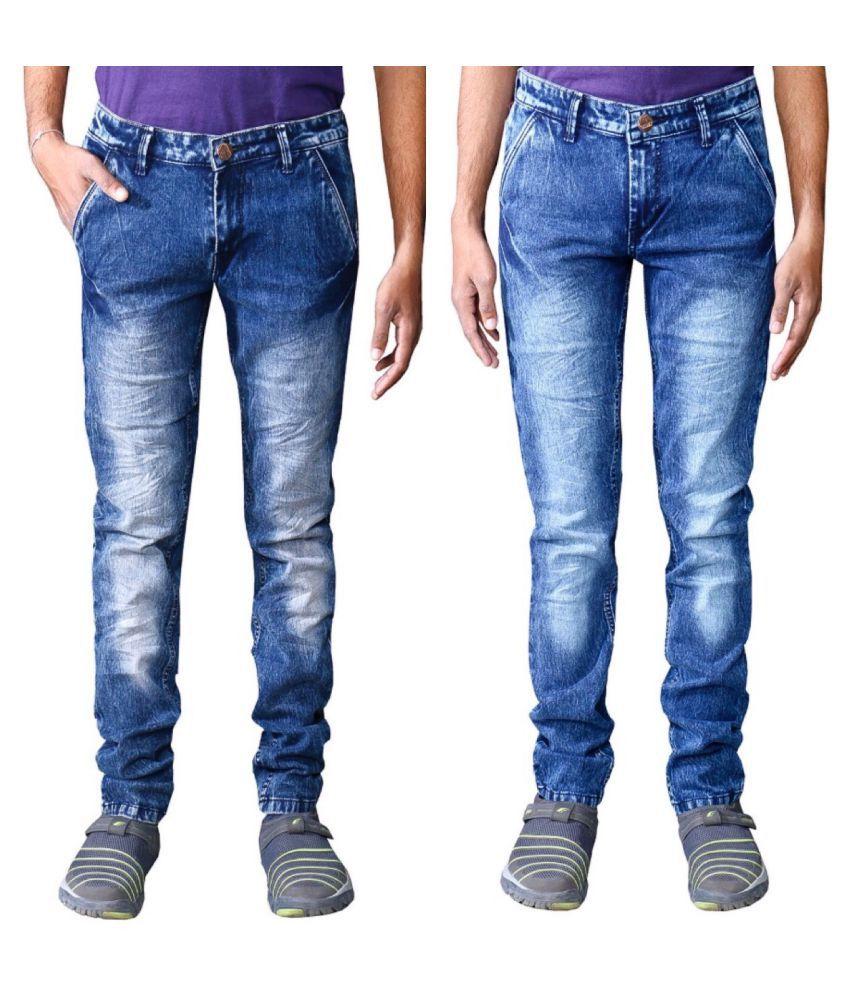 Ragzo Multicolored Slim Jeans