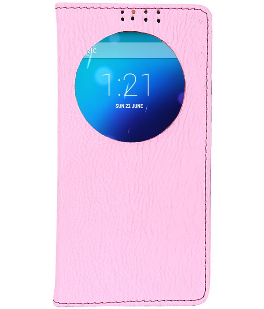 Samsung Galaxy Note 4 Flip Cover by Dsas - Pink