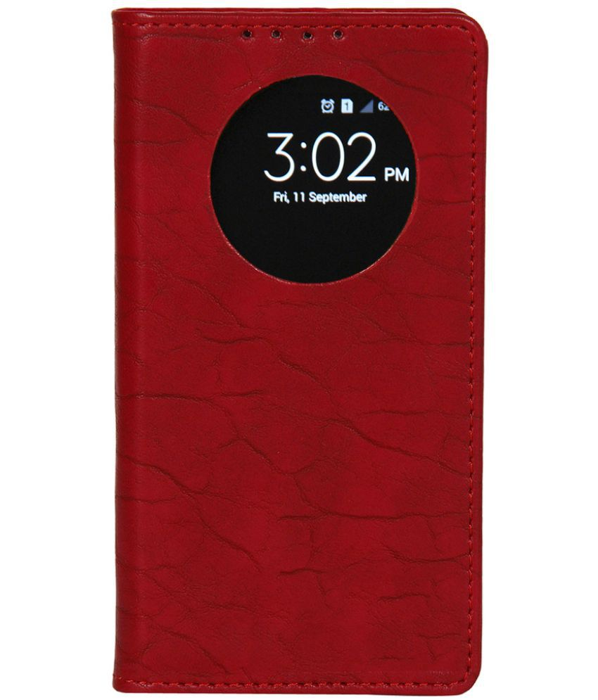 Lenovo S850 Flip Cover by Dsas - Red