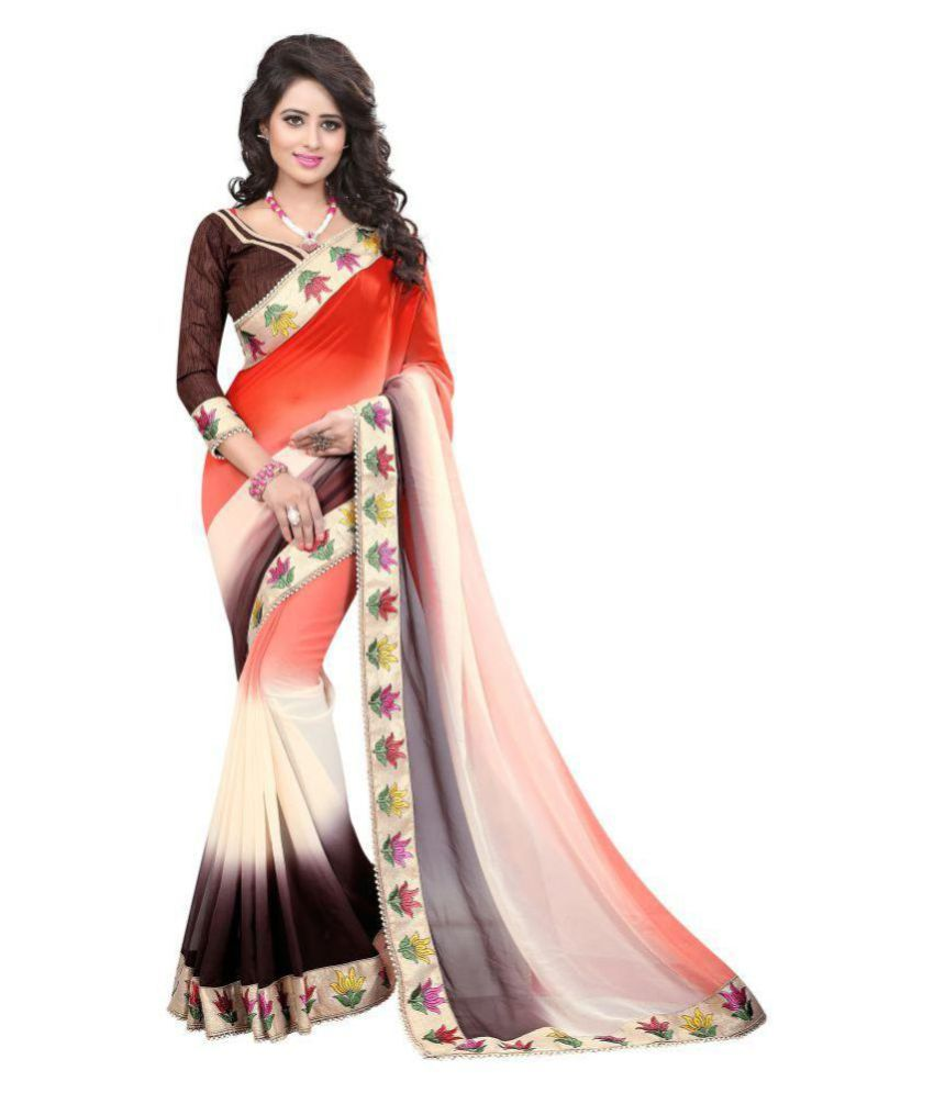 Ojas Multicoloured Georgette Saree