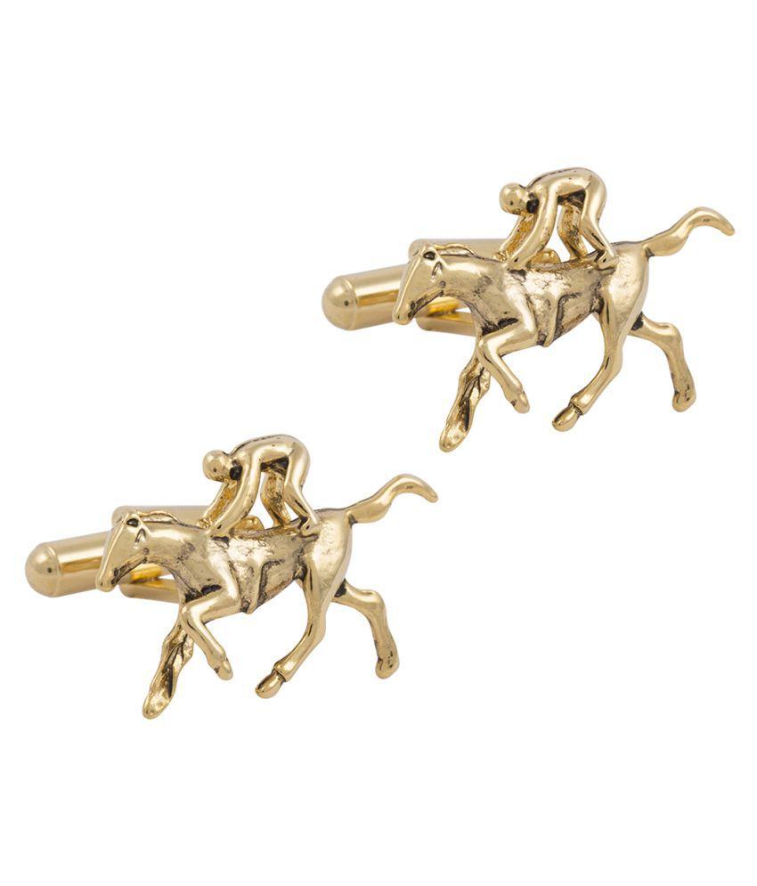 Paranoid Golden Horse Rider Alloy Men's Cufflinks