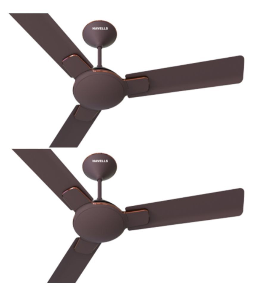 Havells 1200 Enticer Ceiling Fan Brown Copper (Pack Of 2)