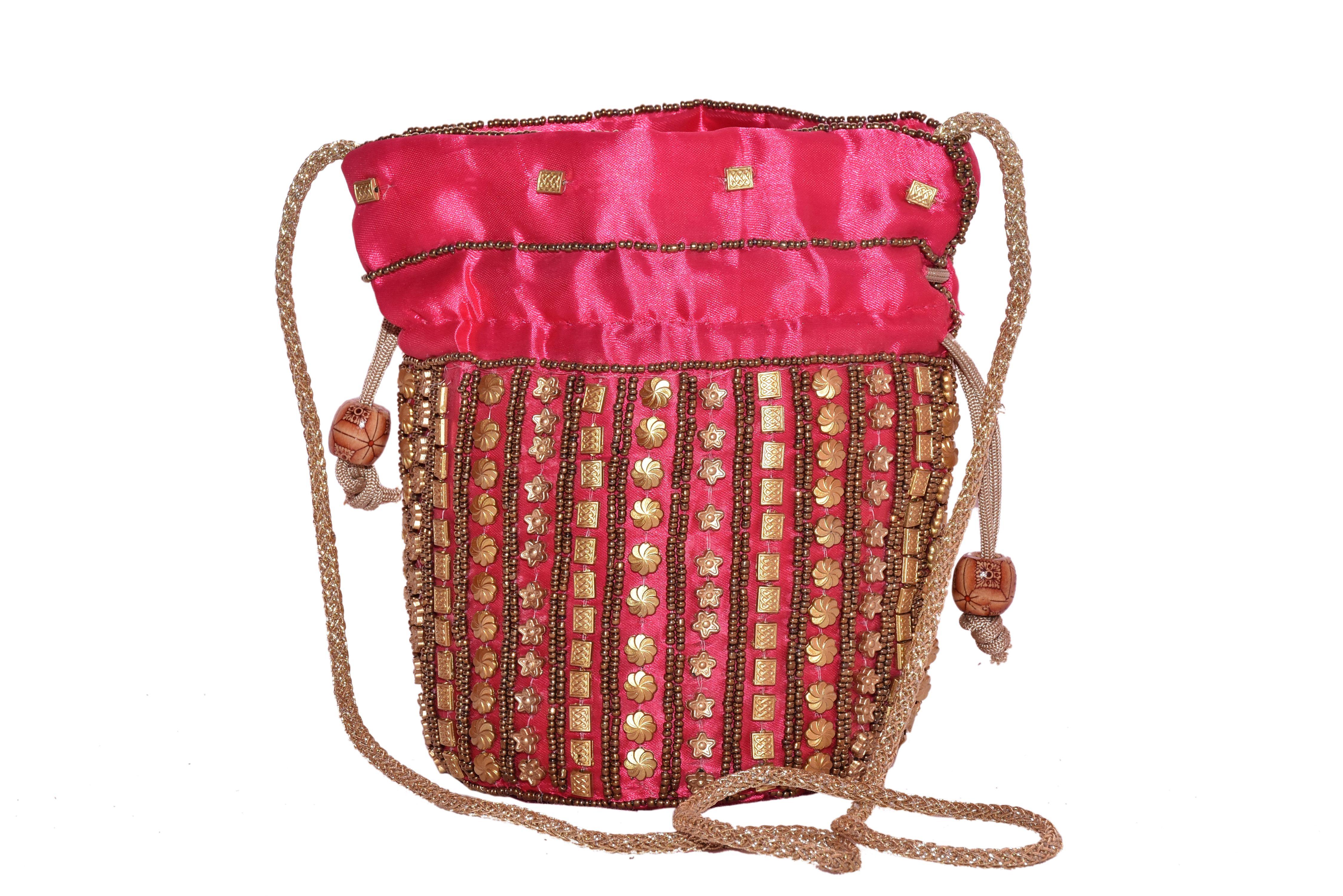 Good India Pink Fabric Potli
