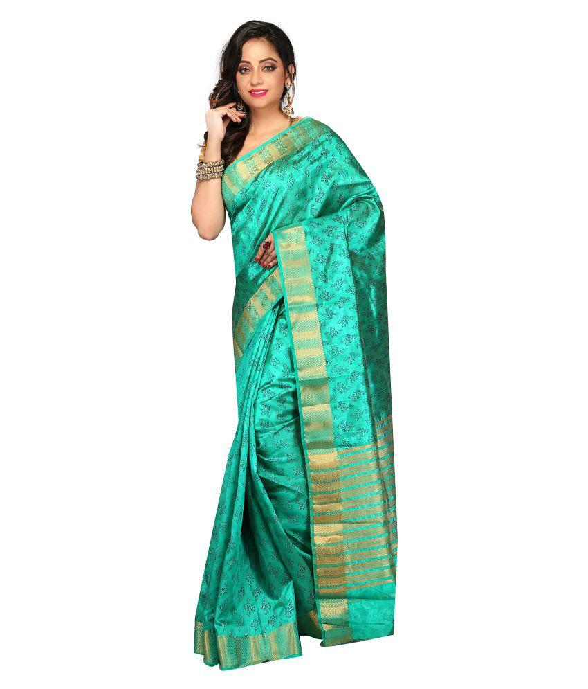 Aayori Green Art Silk Saree