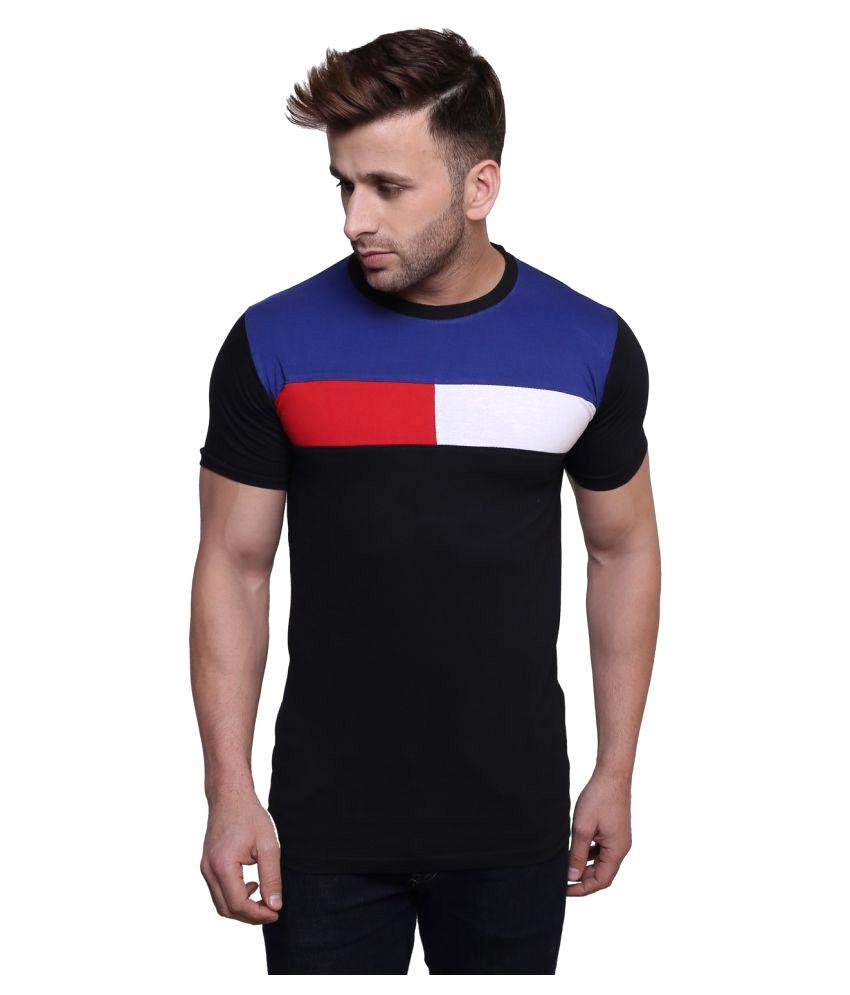 Nagru Black Round T-Shirt