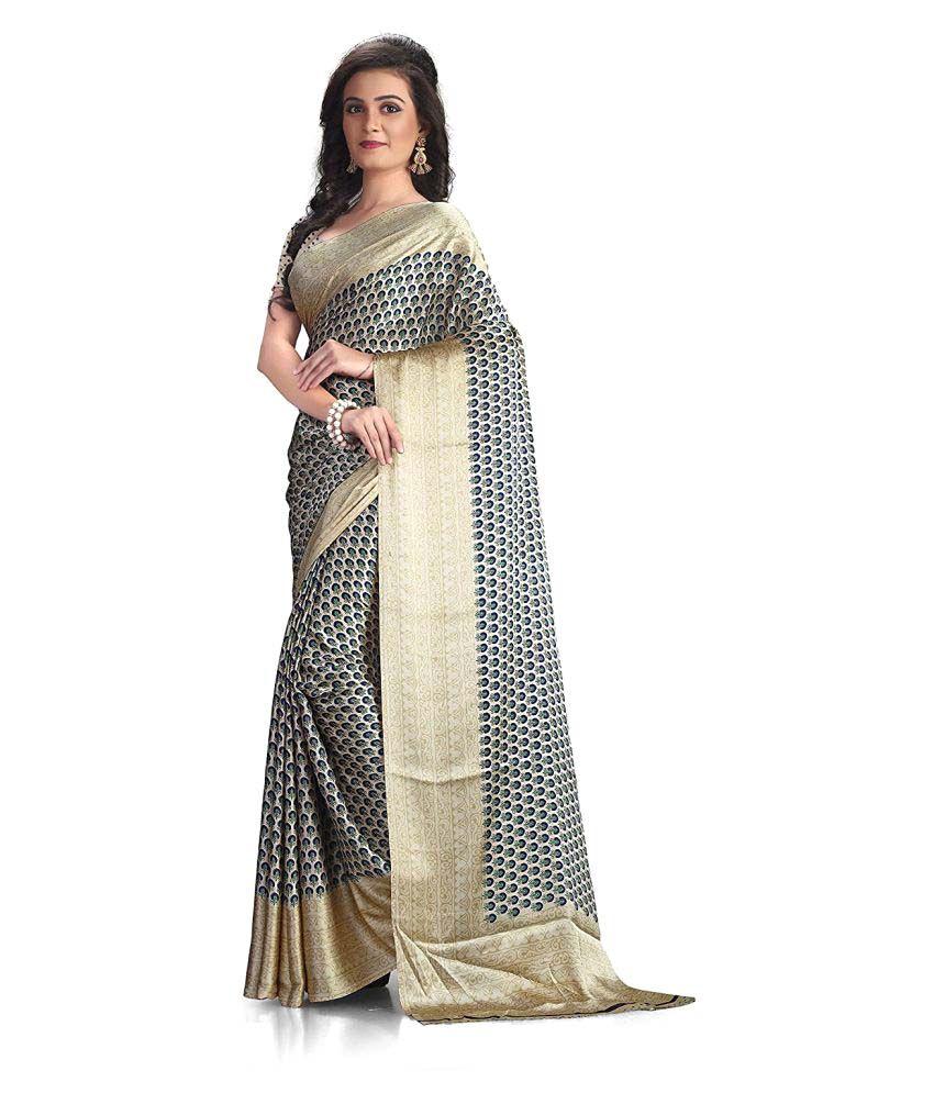 A G Lifestyle Multicoloured Crepe Silk Saree