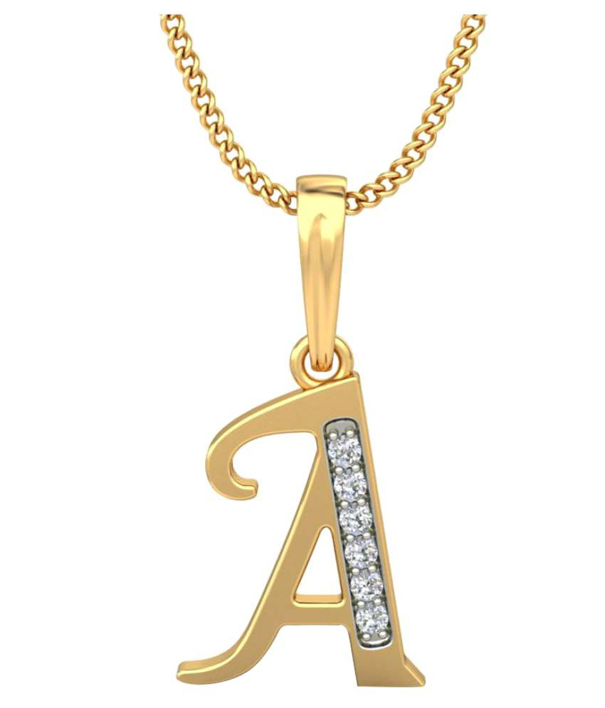 Carrydreams Gold Plated A Letter Initial Pendant With Chain Buy Online In India On Snapdeal