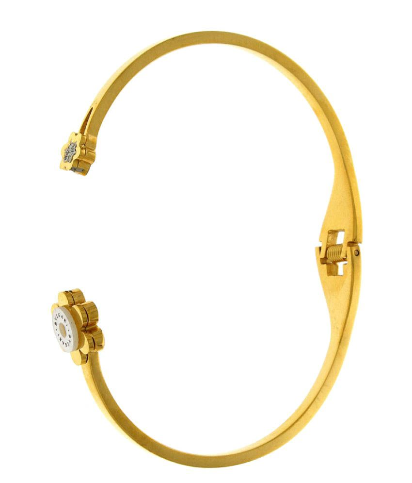 Anuradha Art Golden Tone Classy Wonderful Styled With Studded Stone Hand Bracelet For Women/Girls
